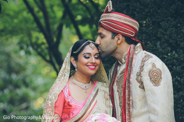 indian wedding first look,indian wedding first look portraits,indian wedding portraits,outdoor indian wedding portraits,indian bridal hair and makeup