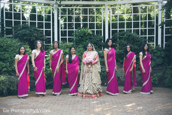 first look,first look portraits,portraits,outdoor portraits,bridal fashion,sari,saris,bridal party bridesmaids