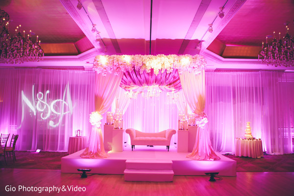 indian wedding reception,reception,reception decor,floral and decor,sweetheart stage,reception venue,venue