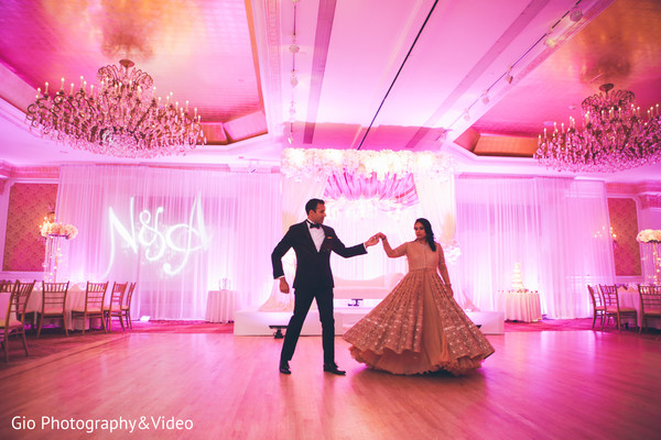 indian wedding reception,indian bride and groom first dance,indian wedding reception venue,indian wedding venue,indian fusion wedding reception,indian weddings