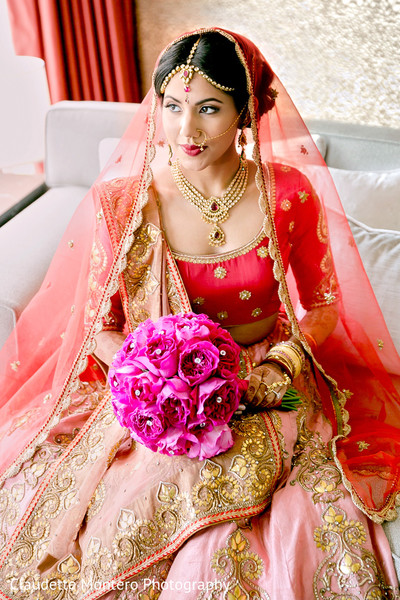 Bridal Portrait in New York, NY Indian Wedding by Claudette Montero Photography