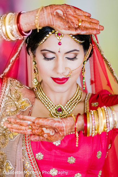 Bridal Makeup in New York, NY Indian Wedding by Claudette Montero Photography