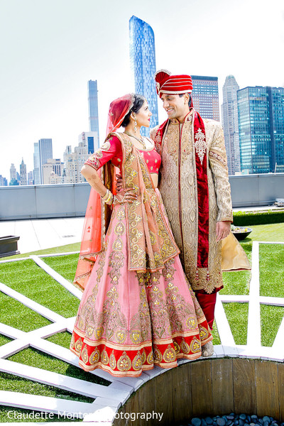 First Look in New York, NY Indian Wedding by Claudette Montero Photography