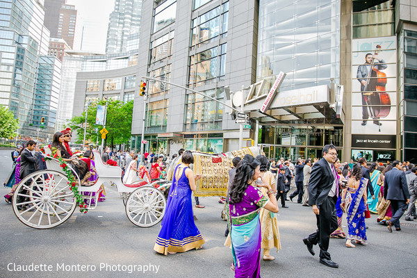 Baraat in New York, NY Indian Wedding by Claudette Montero Photography