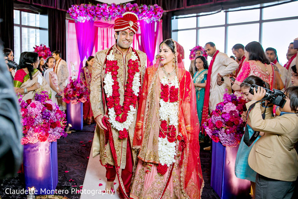 Ceremony in New York, NY Indian Wedding by Claudette Montero Photography