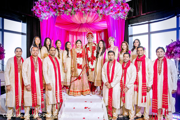 Wedding Party in New York, NY Indian Wedding by Claudette Montero Photography
