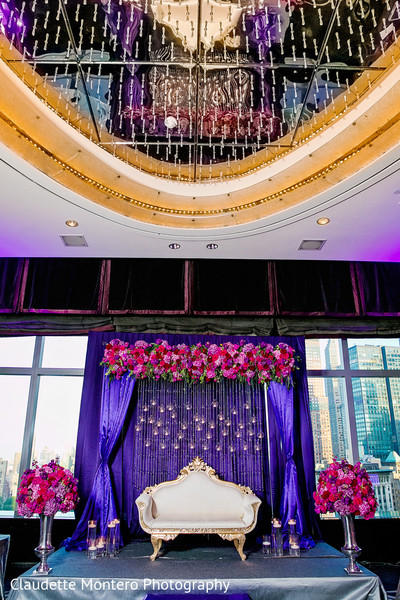 Floral & Decor in New York, NY Indian Wedding by Claudette Montero Photography