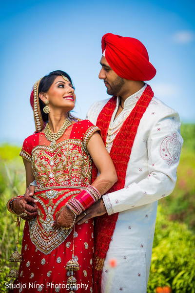 First Look in McLean, VA Sikh Indian Wedding by Studio Nine Photography