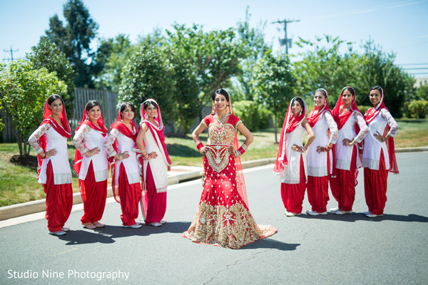 first look,first look portraits,portraits,outdoor portraits,bridal fashion,lengha,bridal party,bridesmaids,salwar kameez