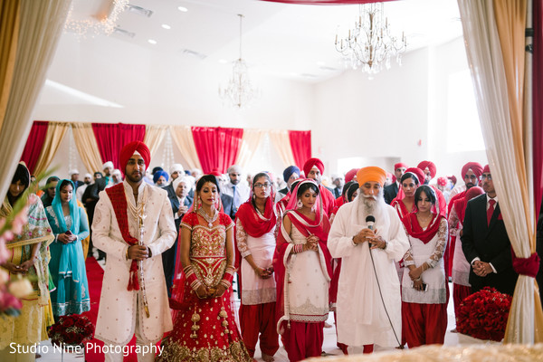 Sikh Ceremony in McLean, VA Sikh Indian Wedding by Studio Nine Photography