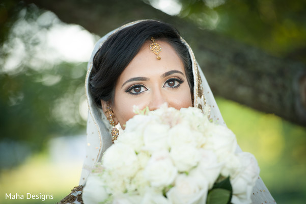 Bridal Portrait in Lisle, IL Pakistani Wedding by Maha Designs