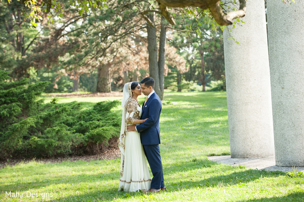 First Look in Lisle, IL Pakistani Wedding by Maha Designs