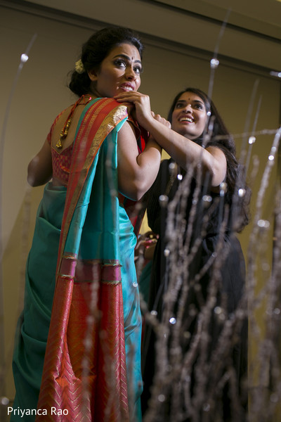 Getting Ready in Bronx, NY Indian Wedding by Priyanca Rao Photography