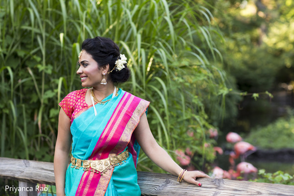 Bridal Portrait in Bronx, NY Indian Wedding by Priyanca Rao Photography