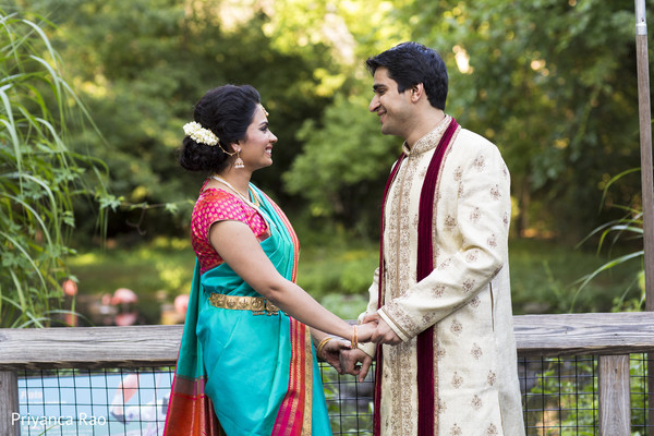 First Look in Bronx, NY Indian Wedding by Priyanca Rao Photography