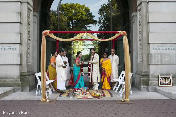 Ceremony in Bronx, NY Indian Wedding by Priyanca Rao Photography
