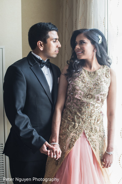 reception,indian wedding reception,reception fashion,gown,tuxedo,cake,cake cutting,sweetheart stage,first dance