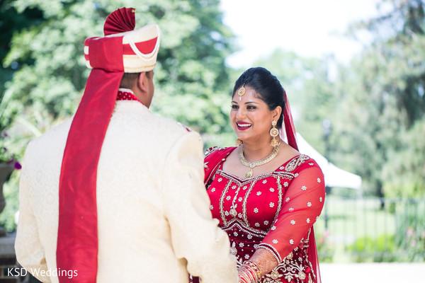 indian wedding first look,indian wedding first look portraits,indian wedding portraits,outdoor indian wedding portraits