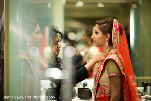 Getting Ready in Woodland Park, NJ Indian Wedding by Damion Edwards Photography