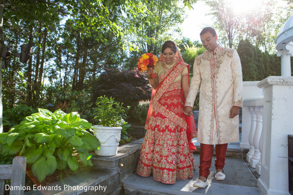 First Look in Woodland Park, NJ Indian Wedding by Damion Edwards Photography