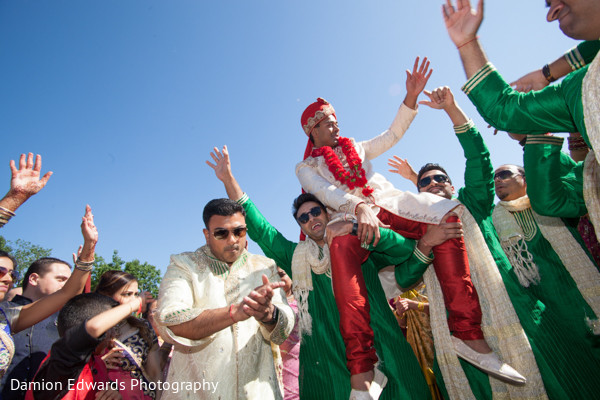 Baraat in Woodland Park, NJ Indian Wedding by Damion Edwards Photography