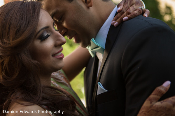 Reception Portrait in Woodland Park, NJ Indian Wedding by Damion Edwards Photography