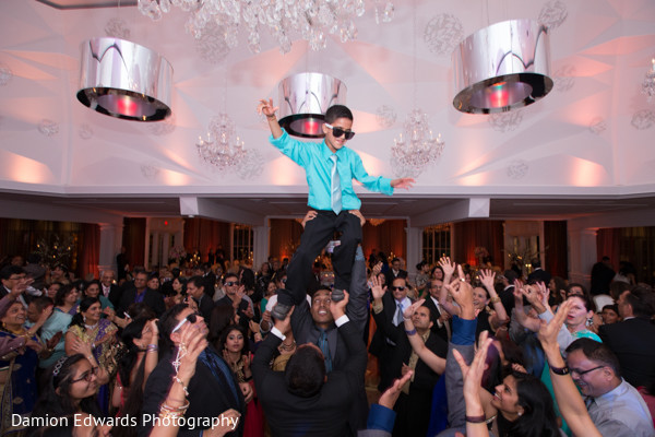 Reception in Woodland Park, NJ Indian Wedding by Damion Edwards Photography