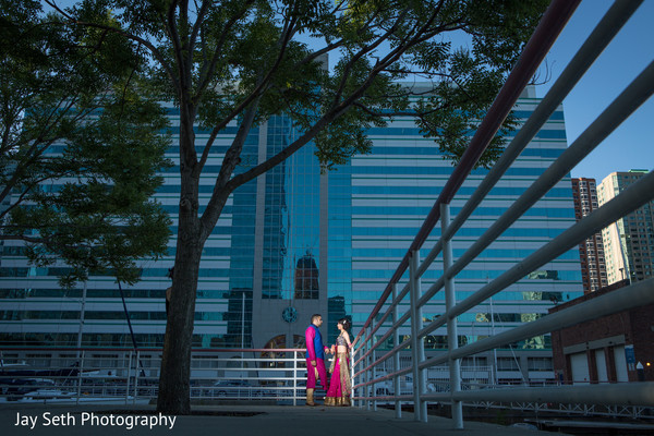 Pre-Wedding Portrait in Jersey City, NJ Indian Wedding by Jay Seth Photography