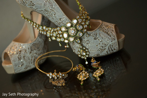 Bridal Accessories in Jersey City, NJ Indian Wedding by Jay Seth Photography