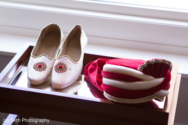 Groom Accessories in Jersey City, NJ Indian Wedding by Jay Seth Photography