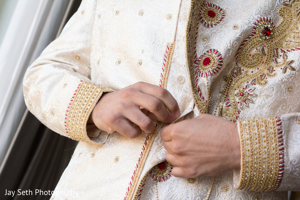 Groom Getting Ready in Jersey City, NJ Indian Wedding by Jay Seth Photography