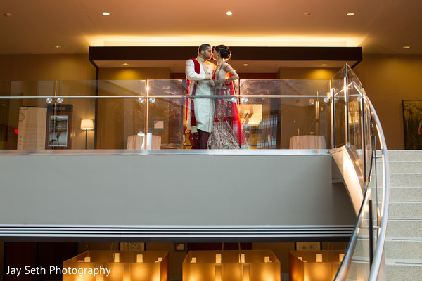 First Look in Jersey City, NJ Indian Wedding by Jay Seth Photography