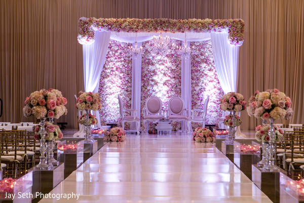 Ceremony Decor in Jersey City, NJ Indian Wedding by Jay Seth Photography