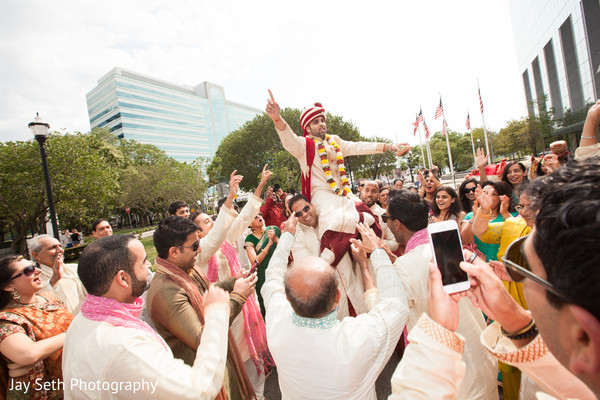 Baraat in Jersey City, NJ Indian Wedding by Jay Seth Photography