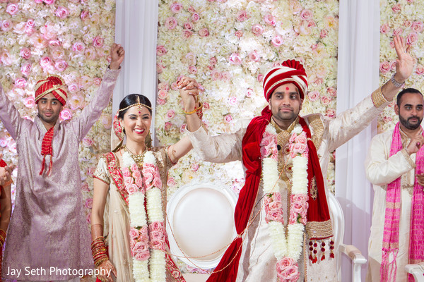 Ceremony in Jersey City, NJ Indian Wedding by Jay Seth Photography