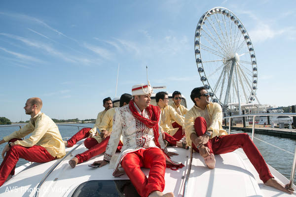 First Look in National Harbor, MD Indian Wedding by AVS Photo & Video