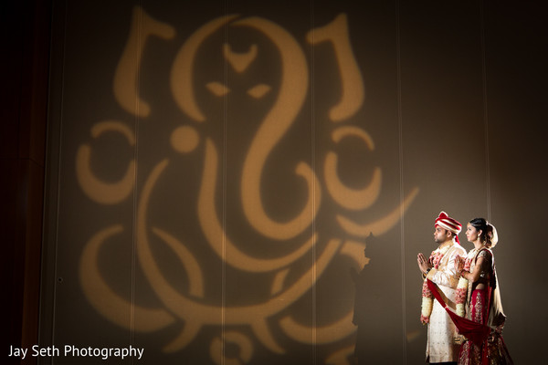 Wedding Portrait in Jersey City, NJ Indian Wedding by Jay Seth Photography