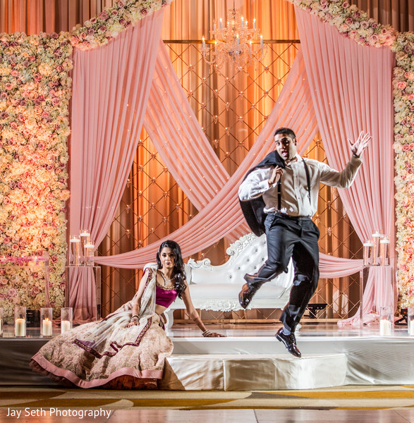 Reception Portrait in Jersey City, NJ Indian Wedding by Jay Seth Photography