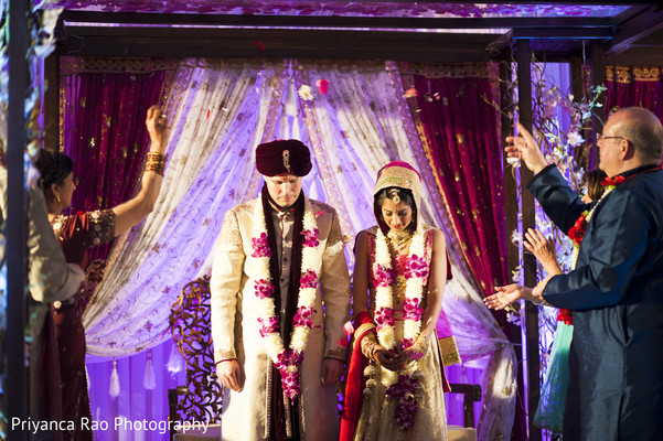 Ceremony in Parsippany, NJ Indian Fusion Wedding by Priyanca Rao Photography