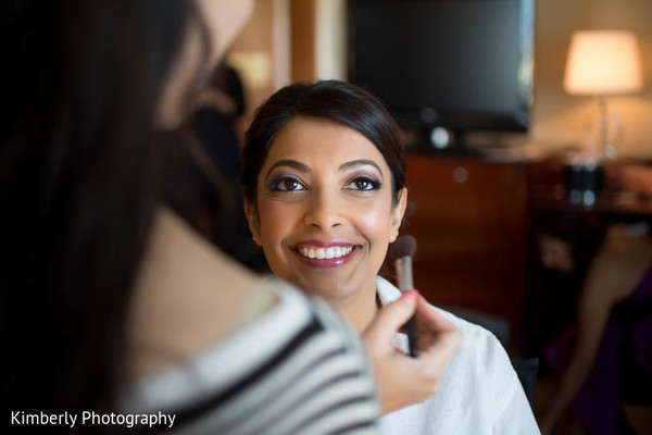 Getting Ready in Tampa, FL Indian Fusion Wedding by Kimberly Photography