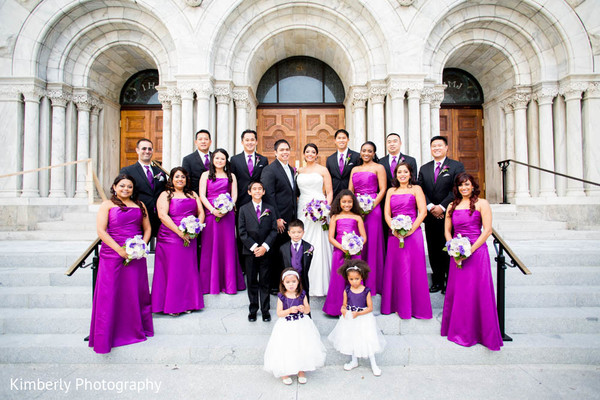 Wedding Party Portrait in Tampa, FL Indian Fusion Wedding by Kimberly Photography