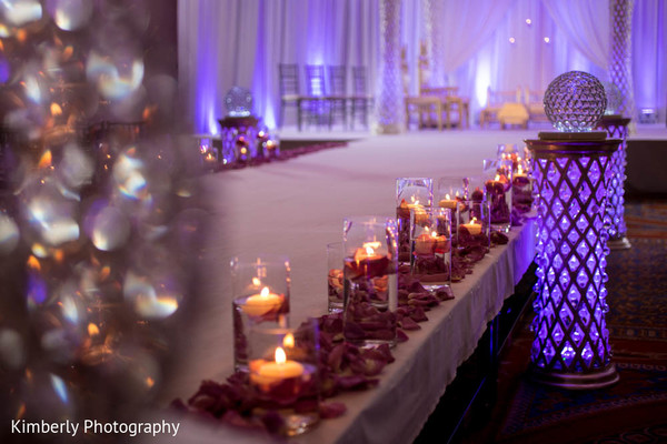Ceremony Decor in Tampa, FL Indian Fusion Wedding by Kimberly Photography