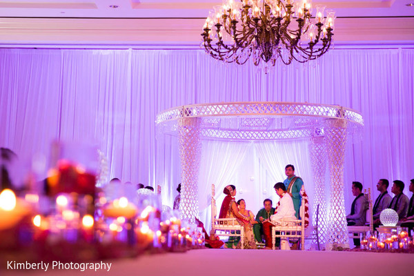 Ceremony in Tampa, FL Indian Fusion Wedding by Kimberly Photography