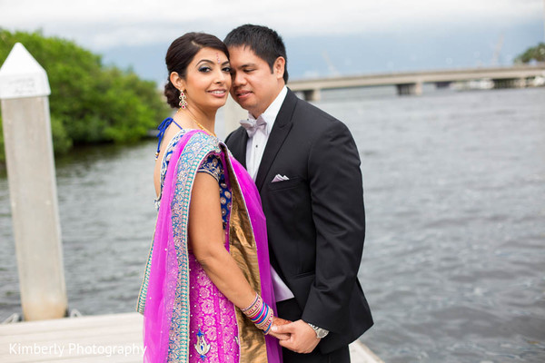 Reception Portrait in Tampa, FL Indian Fusion Wedding by Kimberly Photography
