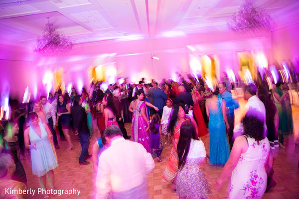 Reception in Tampa, FL Indian Fusion Wedding by Kimberly Photography