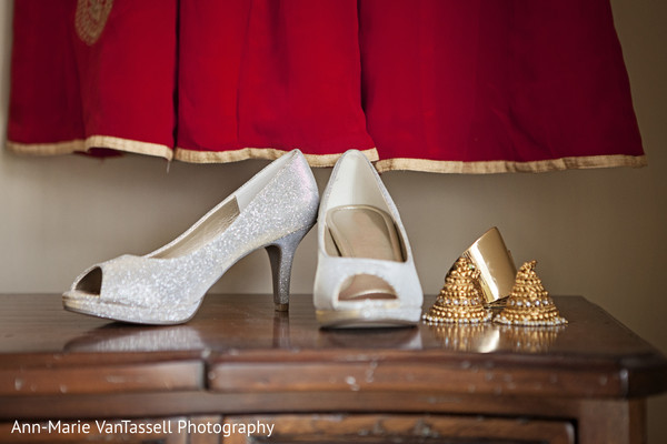 Shoes in Leesburg, VA South Indian Fusion Wedding by Ann-Marie Van Tassell Photography