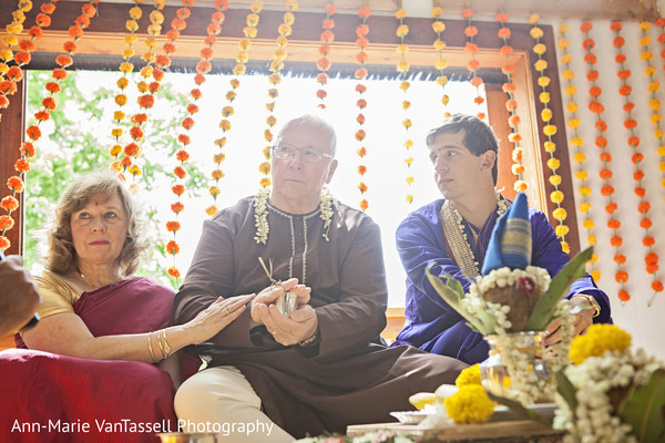Ceremony in Leesburg, VA South Indian Fusion Wedding by Ann-Marie Van Tassell Photography