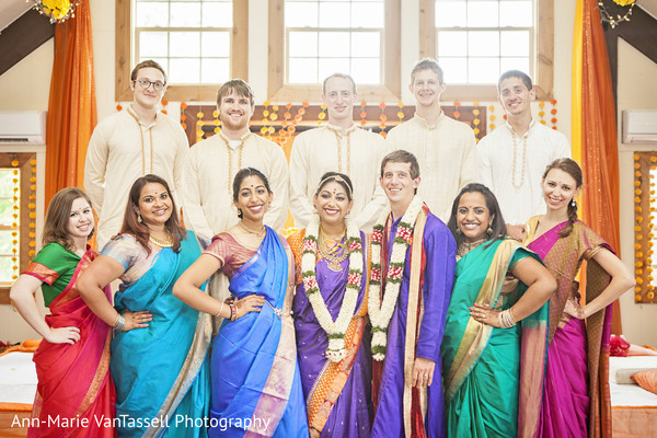 Wedding Party Portait in Leesburg, VA South Indian Fusion Wedding by Ann-Marie Van Tassell Photography