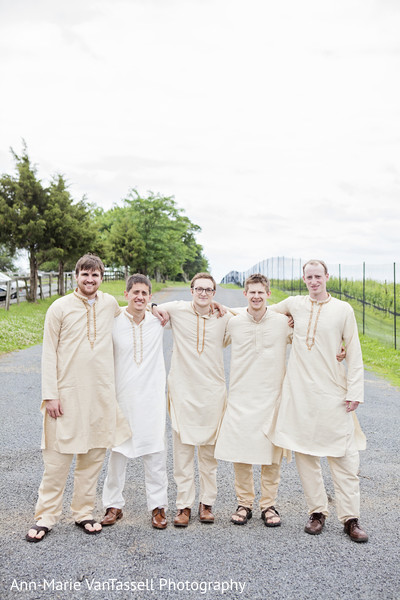 Groomsmen in Leesburg, VA South Indian Fusion Wedding by Ann-Marie Van Tassell Photography