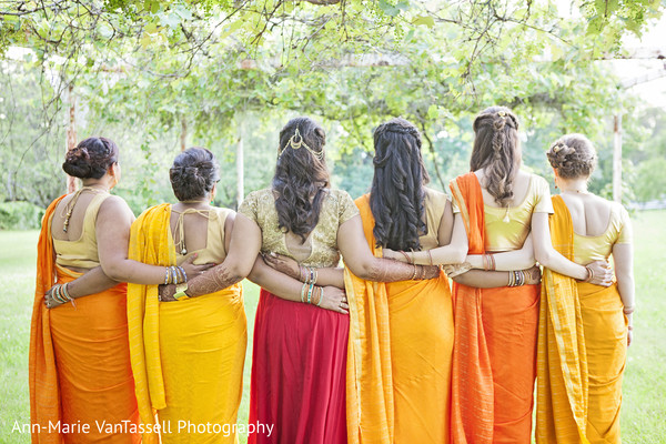 Bridal Party Portrait in Leesburg, VA South Indian Fusion Wedding by Ann-Marie Van Tassell Photography